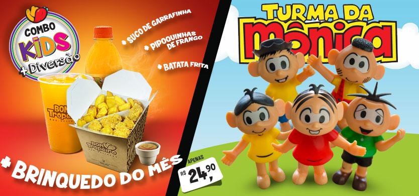 Combo Kids Diversão Bom Tropeiro Turma da Monica
